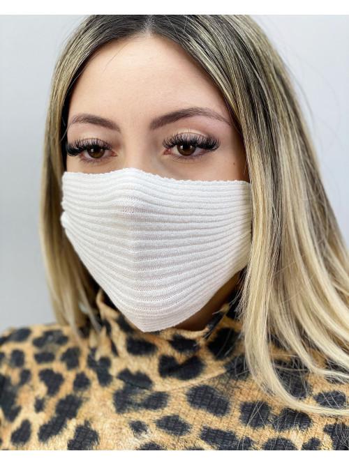 Máscara em tricot / Off
